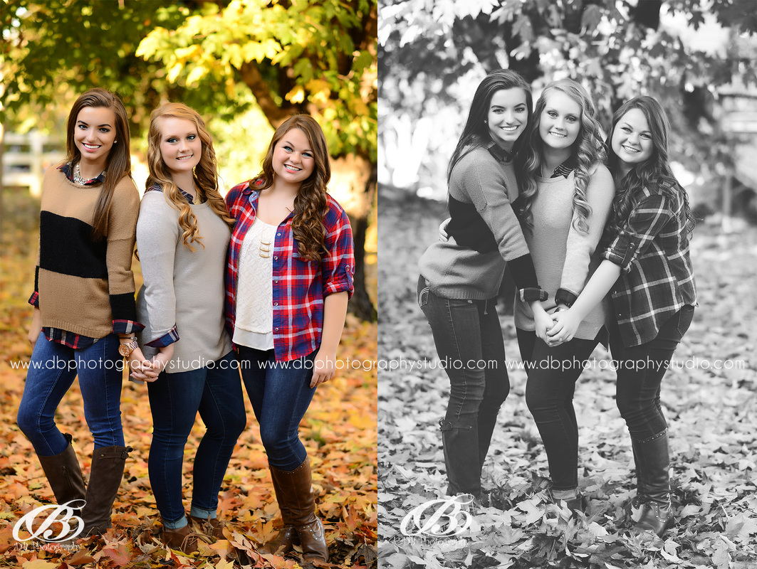 Central Arkansas Senior Photographer | McCrory Arkansas | DB Photography | Seniors by DB Photography | fall senior pictures | falling leaves | best friend session with DB Photography |