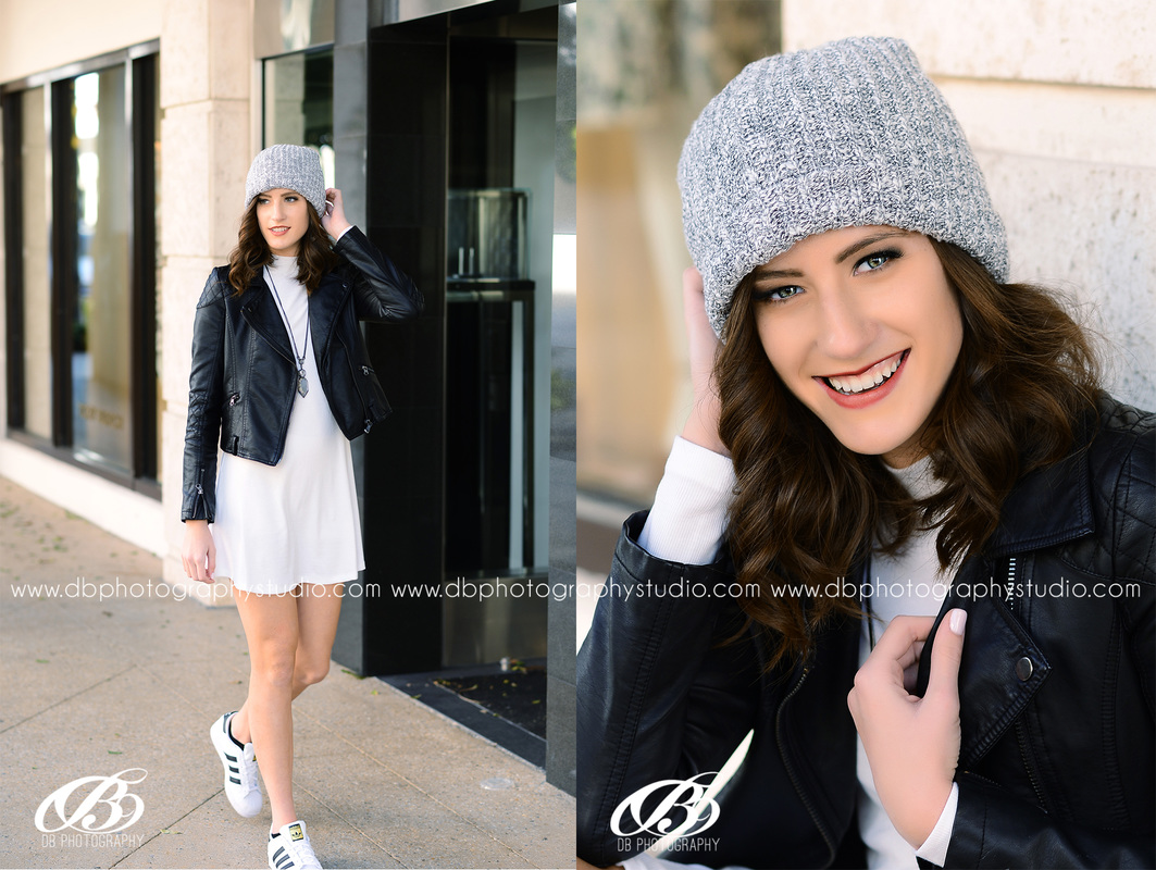 Central Arkansas Senior Photographer | McCrory Arkansas | DB Photography | Leather jacket | grey hat | black and white