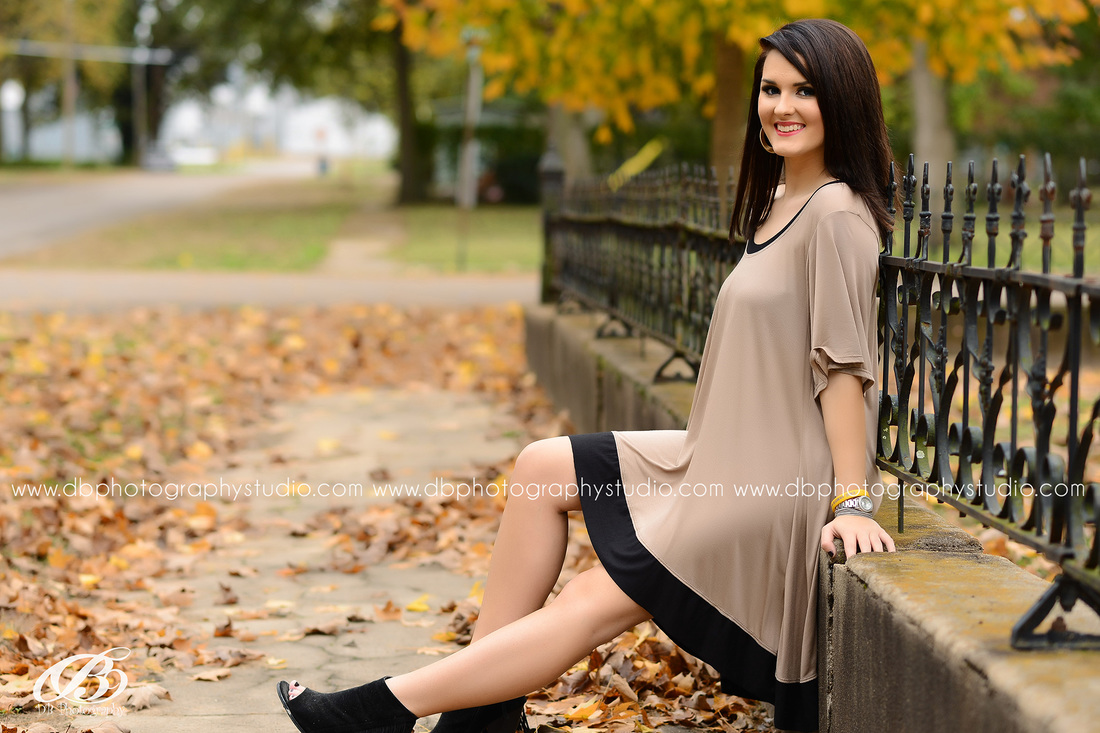 Central Arkansas Senior Photographer | McCrory Arkansas | DB Photography | Seniors by DB Photography | Fall Senior Pictures | Dress with wedges |